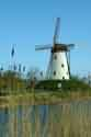 Image Ref: 03-03-57 - Windmill and Canal, Damme, Belgium, Viewed 5620 times