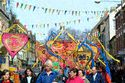 Pageant of children with sculptures, Morpeth Northumbrian Gathering has been viewed 7521 times