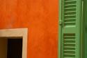 Terracotta wall and green shutter has been viewed 6622 times