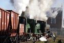 Triple headed steam locomotives hauling a coal train has been viewed 4732 times