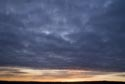 Winter sunset with dark sky has been viewed 13160 times