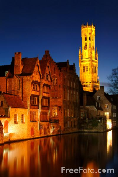 Picture of Bruges at Night - Free Pictures - FreeFoto.com