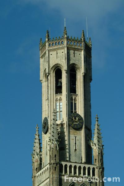 Picture of The Belfort, Brugge / The Belfry tower, Bruges - Free Pictures - FreeFoto.com