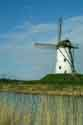 Image Ref: 03-03-60 - Windmill and Canal, Damme, Belgium, Viewed 6571 times