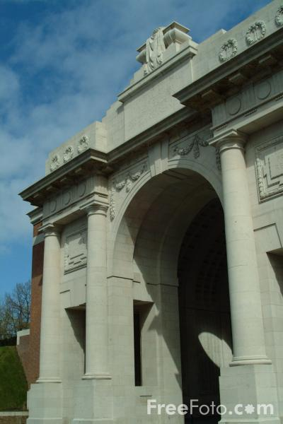 Picture of The Menin Gate, Ypres / Ieper, Belgium - Free Pictures - FreeFoto.com