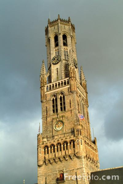 Picture of The Belfry Tower, Bruges - Free Pictures - FreeFoto.com