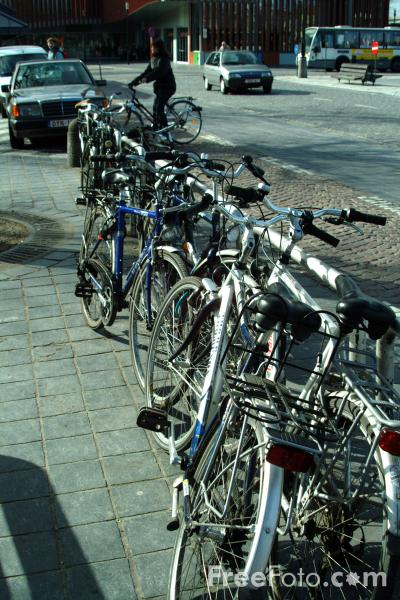 Picture of Bicycle Parking, Bruges, Belgium - Free Pictures - FreeFoto.com