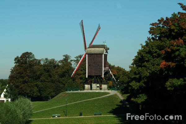 Picture of Windmill, Brugge / Bruges - Free Pictures - FreeFoto.com