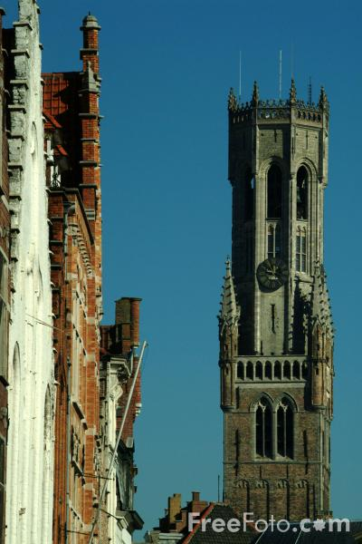 Picture of The Belfry Tower, Brugge / Bruges - Free Pictures - FreeFoto.com