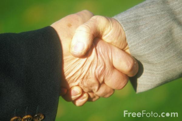 Picture of Shaking hands - Free Pictures - FreeFoto.com