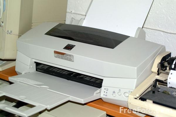 Picture of Computer Printer - Free Pictures - FreeFoto.com