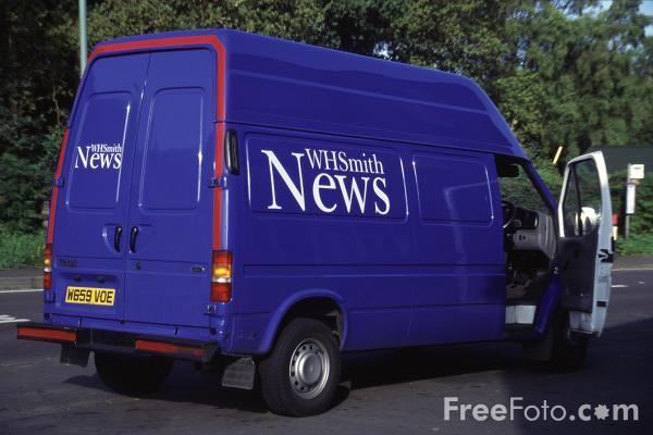 Picture of WH Smith News Van - Free Pictures - FreeFoto.com