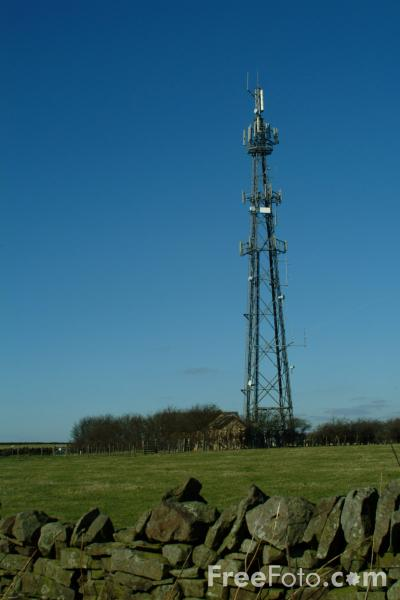 Picture of Television and Mobile Phone Mast, Haydon Bridge, Northumberland - Free Pictures - FreeFoto.com