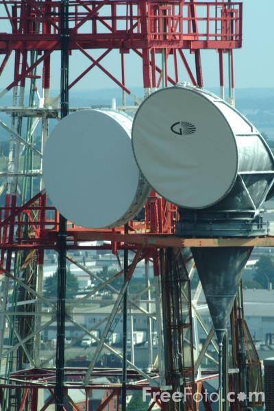 Picture of Microwave Communication Tower - Free Pictures - FreeFoto.com