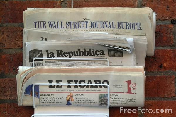 Picture of Newspapers - Free Pictures - FreeFoto.com