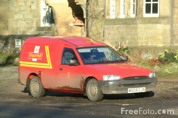 Picture of Post Office Van - Free Pictures - FreeFoto.com