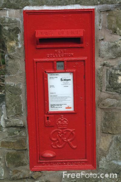 Post Box pictures, free use image, 04-27-59 by FreeFoto.com
