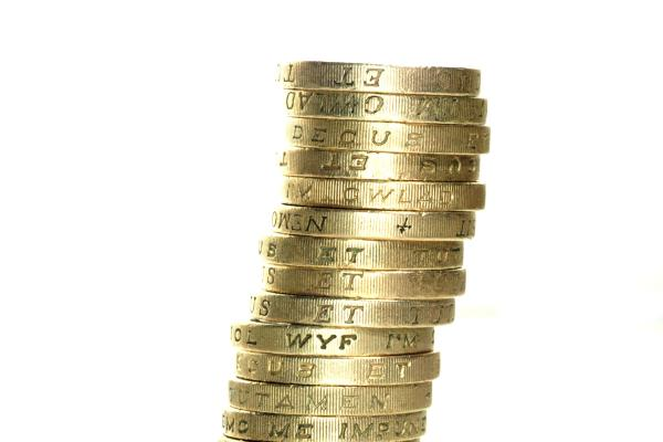 Picture of Pile of One Pound Coins - Free Pictures - FreeFoto.com