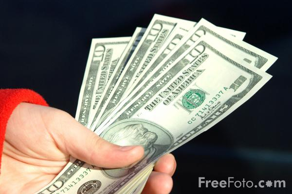 Picture of US Dollar Bills - Free Pictures - FreeFoto.com
