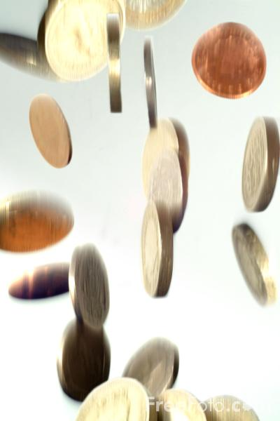 Picture of Falling Coins - Free Pictures - FreeFoto.com