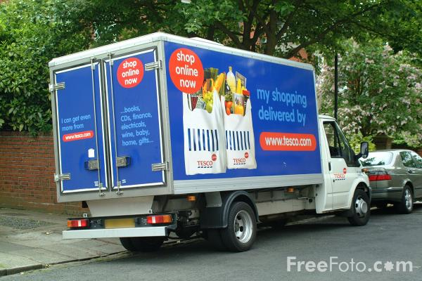 Picture of Tesco Home Delivery Van - Free Pictures - FreeFoto.com