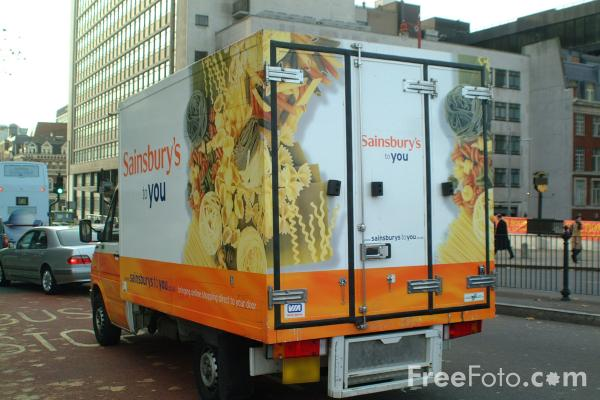 Picture of Sainsburys Home Delivery Van - Free Pictures - FreeFoto.com
