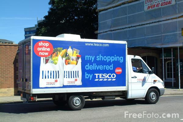 Tesco Home Delivery Van