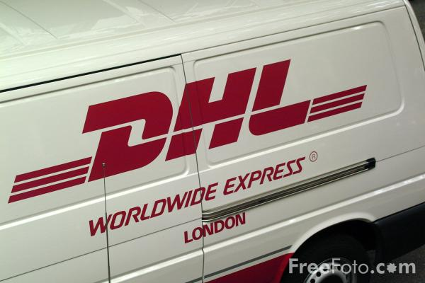 Picture of DHL Delivery Van - Free Pictures - FreeFoto.com