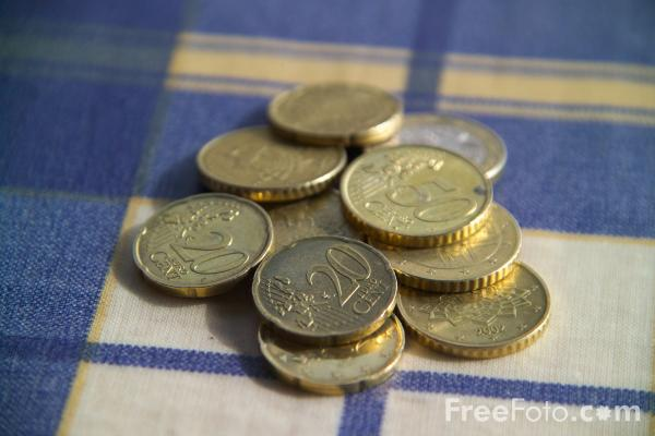 Picture of Euro Coins - Free Pictures - FreeFoto.com