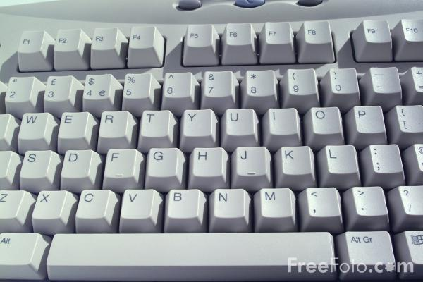 Picture of Computer Keyboard - Free Pictures - FreeFoto.com