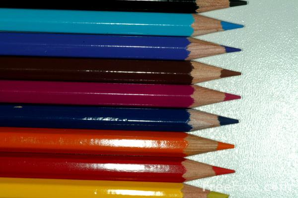 Picture of Coloured Pencils - Free Pictures - FreeFoto.com