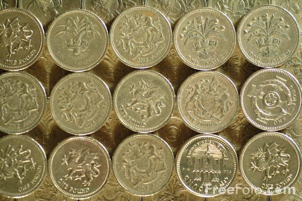 Picture of One Pound Coin - Free Pictures - FreeFoto.com