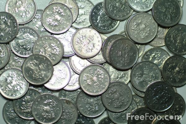 Picture of 5 Pence Coin - Free Pictures - FreeFoto.com