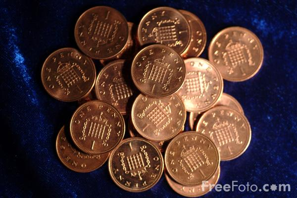 Picture of 1 Pence Coin - Free Pictures - FreeFoto.com