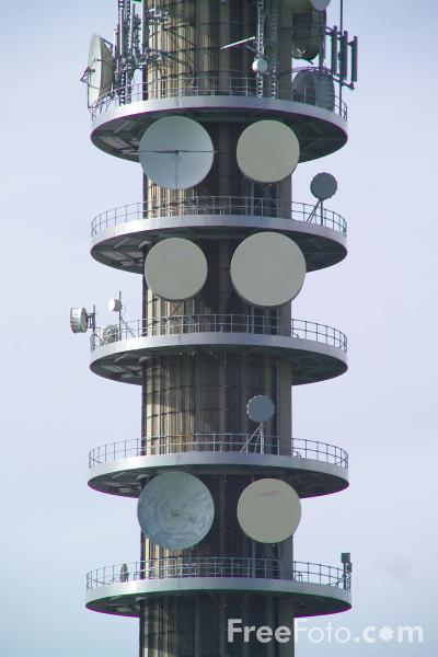 Picture of Communications Tower - Free Pictures - FreeFoto.com