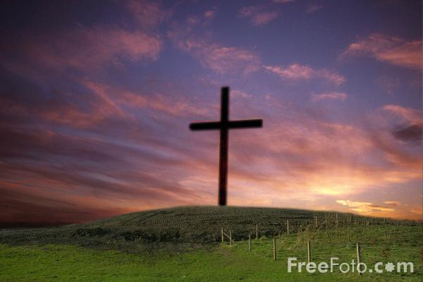 Picture of Cross on a Hill - Free Pictures - FreeFoto.com