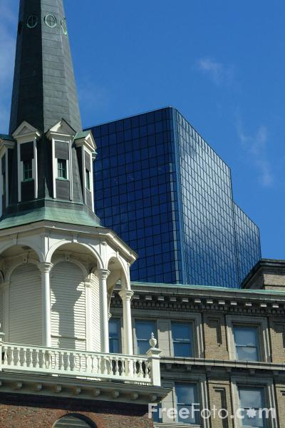 Picture of Church, Downtown Boston, New England, USA - Free Pictures - FreeFoto.com