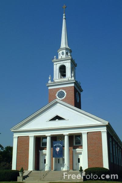 Picture of Church, Lexington, Massachusetts - Free Pictures - FreeFoto.com