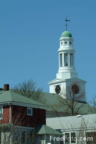 Picture of Church, Rockport, Massachusetts, New England - Free Pictures - FreeFoto.com