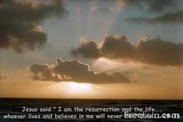 Picture of I am the resurrection and the life - Free Pictures - FreeFoto.com