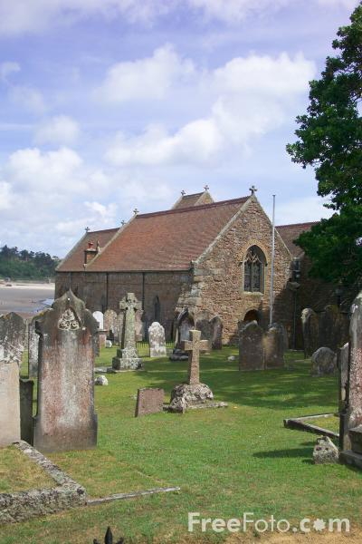 Picture of St Brelade's Parish Church, Jersey, The Channel Islands - Free Pictures - FreeFoto.com