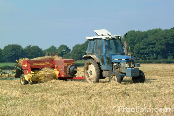Picture of Hay bailer - Free Pictures - FreeFoto.com