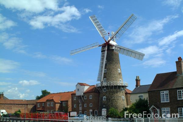 Picture of Maud Foster Windmill, Boston - Free Pictures - FreeFoto.com