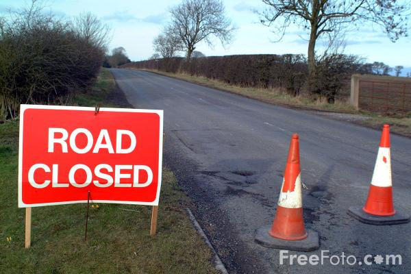 Picture of Closed Road, Wallridge, Northumberland - Free Pictures - FreeFoto.com