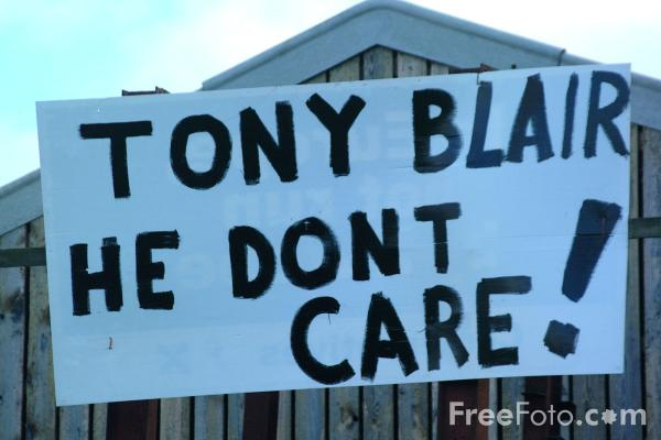 Picture of Tony Blair, he don't care - Free Pictures - FreeFoto.com