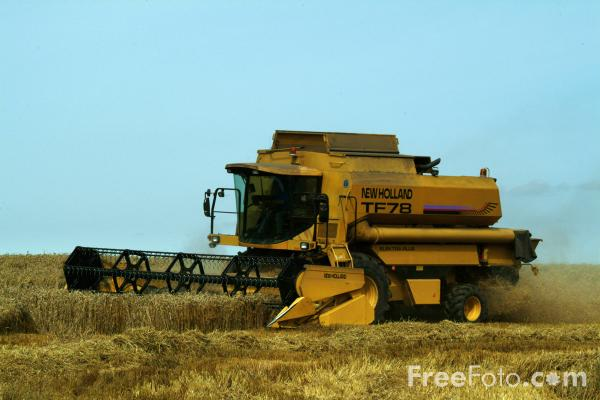 Picture of Combine Harvester - Free Pictures - FreeFoto.com
