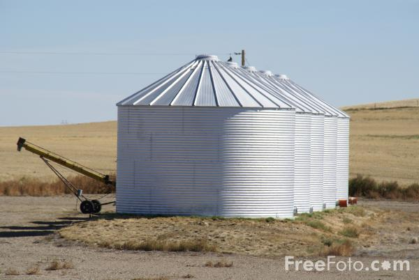 Picture of Grain Silo - Free Pictures - FreeFoto.com