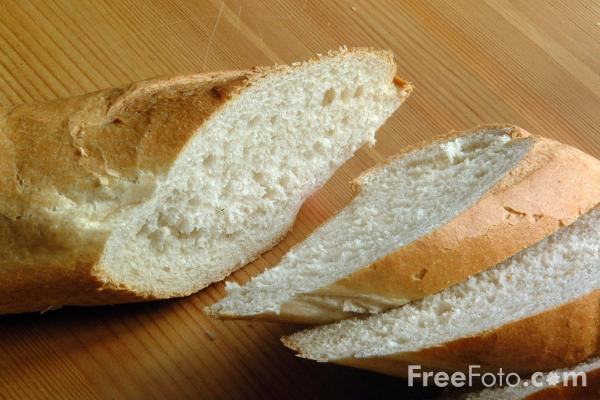 Picture of Bread - French Stick - Free Pictures - FreeFoto.com