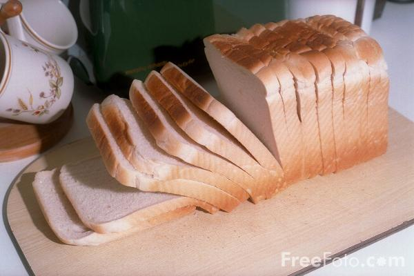 Picture of Sliced Loaf - Free Pictures - FreeFoto.com