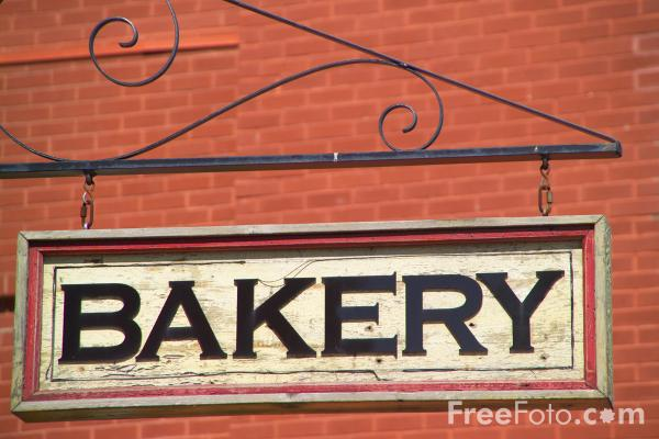 Picture of Bakery Sign - Free Pictures - FreeFoto.com